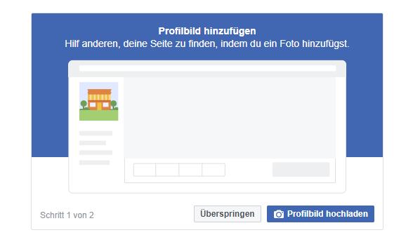 Screenshot der Facebook-Anleitung wie man eine Seite erstellt.