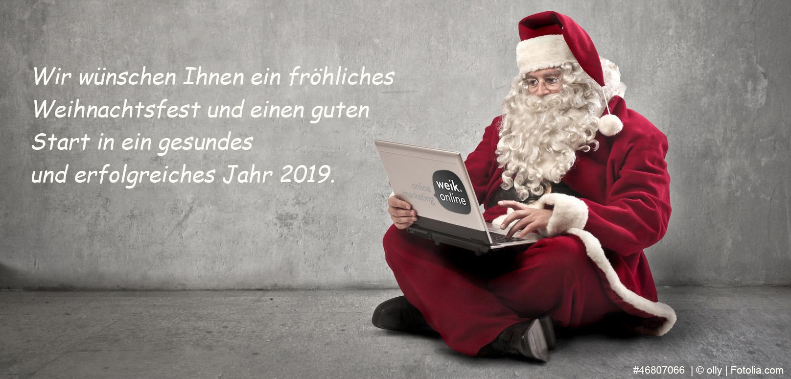 Das Team von weik.online wünscht Ihnen ein frohes Weihnachtsfest 2018!